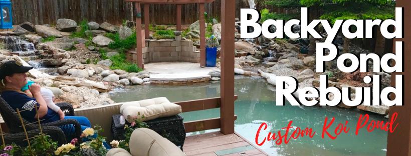 Backyard Pond Rebuild
